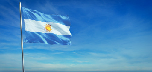 The National flag of Argentina Fotomurales