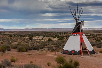 The traditional home of North American Indians wigwam