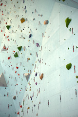 Climbing wall, vertical picture