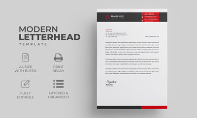 Abstract Letterhead Design Template