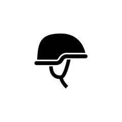 Army helmet and protective gear glyph icon