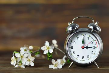 Spring forward. Summer time change. Daylight Saving Time