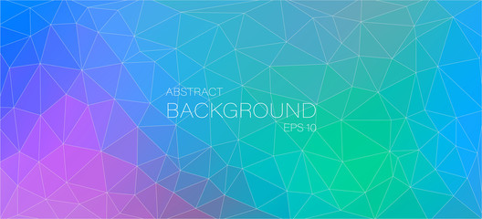 Awesome colorful abstract background with triangles shapes
