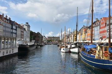 Garden Poster Scandinavia boats in Copenhagen