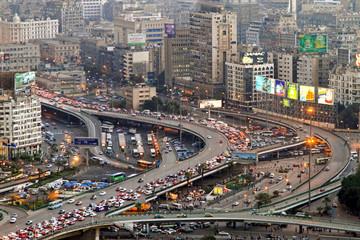Cairo traffic Egypt Fotomurales