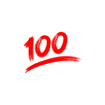 Hundred logo icon template design. Vector illustration