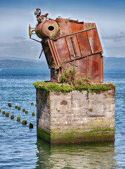 Rusty Equipment On The Columbia River