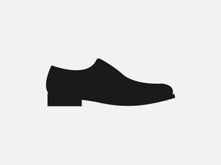 Mens shoe icon. Vector illustration, flat design. Wall mural