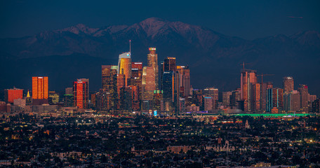 Downtown L.A. Night Skyline