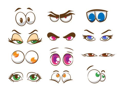 cartoon eyes vector set collection graphic clipart design