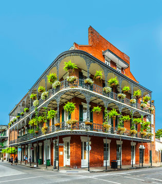 people visit historic building in the French Quarter
