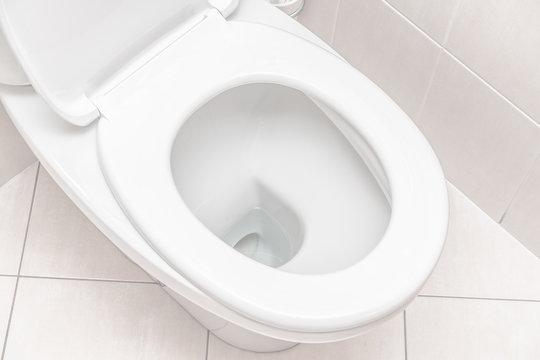clean toilet in the bathroom. restroom.