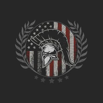 sparta helmet emblem symbol brave fighter