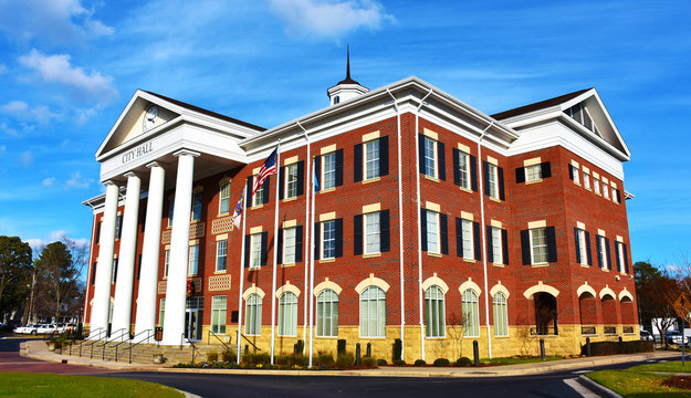 Lumberton City Hall, North Carolina, USA