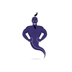 Genie Mascot Vector Design. Magic Fantasy genie concept logo.