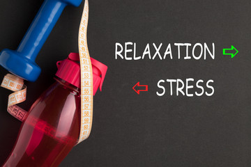 In de dag Ontspanning Stress Relaxation Concept
