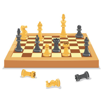 Chess Game Board And Pieces