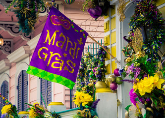 Mardi gras decorations in New Orleans Fotomurales