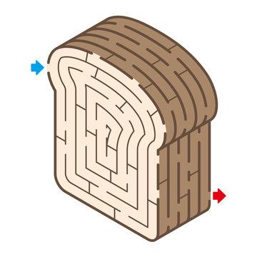 食パンのアイソメトリック迷路