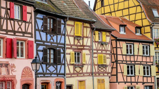 maisons à colombage à colmar, alsace, France