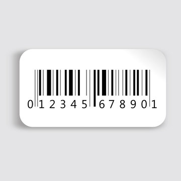 Realistic barcode icon.