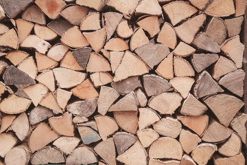 Türaufkleber Brennholz-textur ster de bois