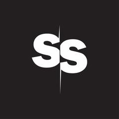 SS Logo Letters black background