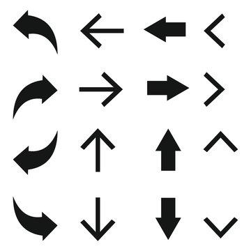 arow set symbol icon vector. for web design
