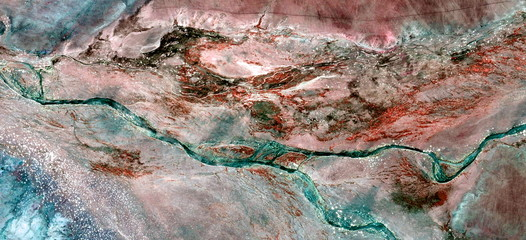 abstract photography of the deserts of Africa from the air. aerial view of desert landscapes, Genre: Abstract Naturalism, from the abstract to the figurative, contemporary photo art