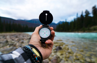 Exploration Compass In Wild