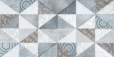 Foto auf AluDibond Schmetterlinge im Grunge Digital kitchen or washroom ceramic wall tiles, in multi colors.