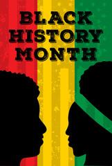 black history month poster, background vector illustration