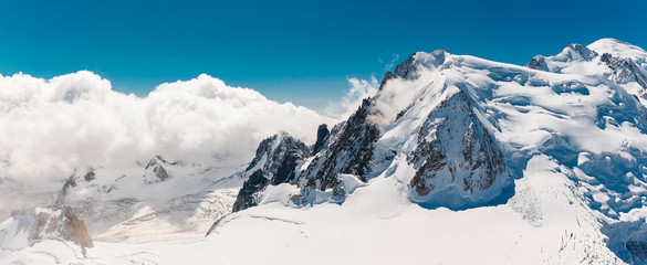 Poster de jardin Alpes Stock photo of the Mont Blanc top