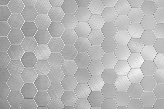 Stock image of the metal honeycomb