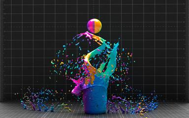 a splash of colour