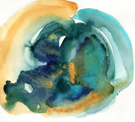 Abstract colorful watercolor painting