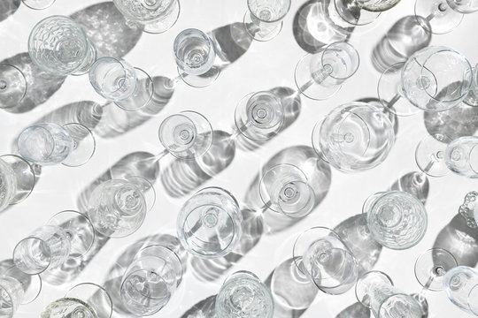 Empty vermouth glasses