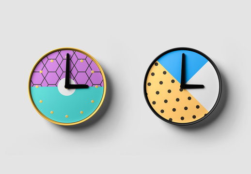 Clock on a Wall Mockup