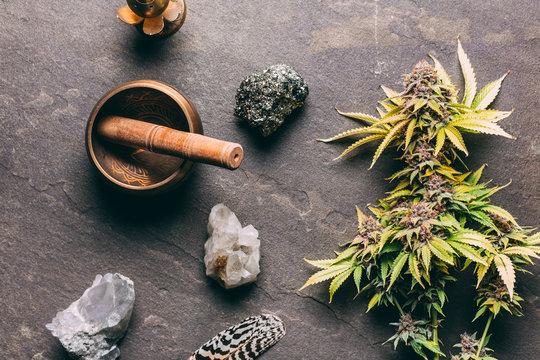 Cannabis flatlays
