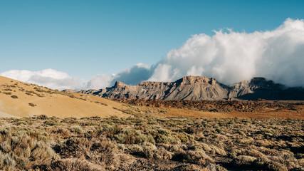 Volcanic Mountain Range Landscape