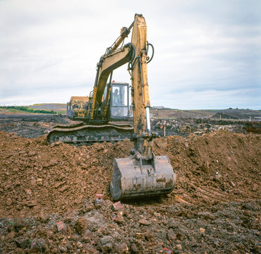 Remediation work on site of former coal mine.