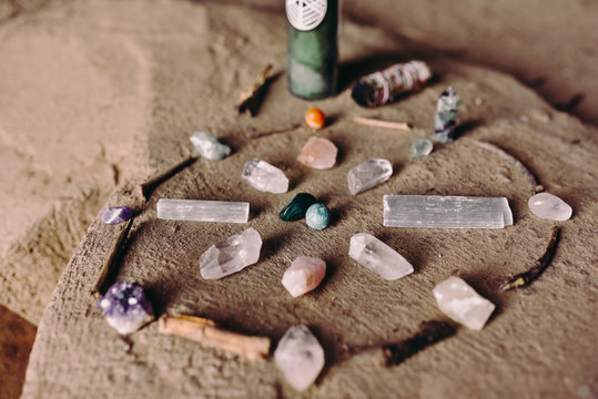 A beautiful set up of a crystal grid