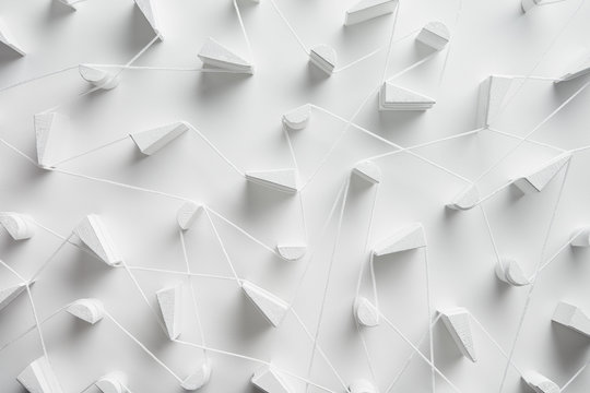 Infrastructure of white threads in link