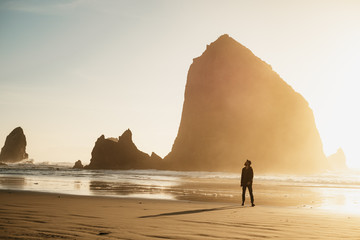 ginger man on a beach in oregon