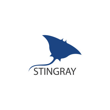 Stingray logo ilustration vector flat design