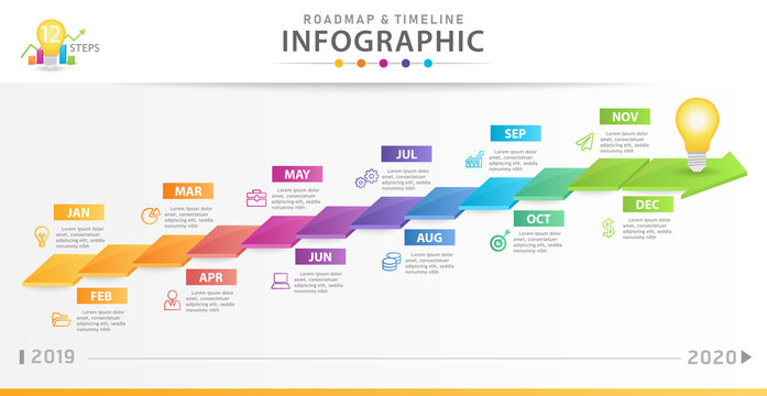 Infographic template for business. Modern Timeline diagram calendar with 3d style, presentation vector infographic.