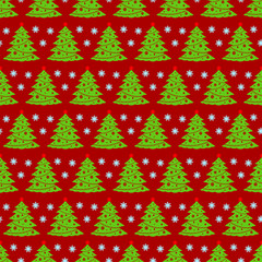 Christmas tree vector seamless pattern christmas background