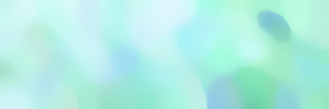 soft blurred horizontal background with pale turquoise, medium aqua marine and light cyan colors and space for text