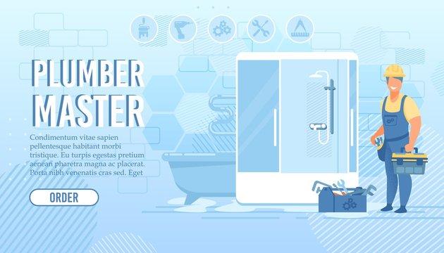 Landing Page for Plumber Master Repair Service