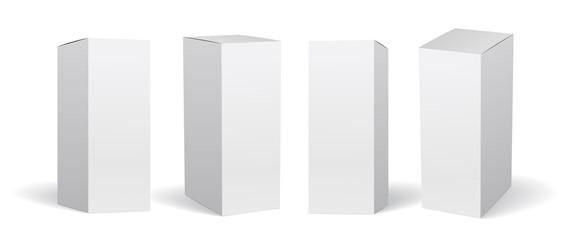 Obraz Packaging box mockup vector set, 箱のモックアップ - fototapety do salonu